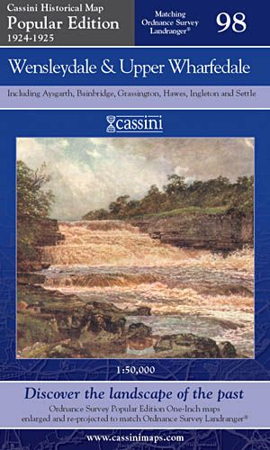 Cassini Popular Edition - Wensleydale & Upper Wharfedale (1924-1925)