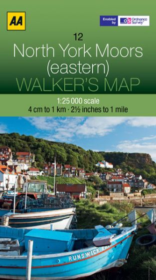 AA - Walker's Map 12 - North York Moors (eastern)