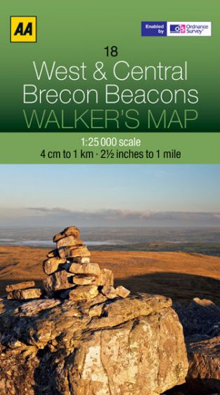 AA - Walker's Map 18 - West & Central Brecon Beacons
