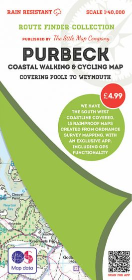 The Little Map Company - Route Finder - Purbeck (Poole - Weymouth)
