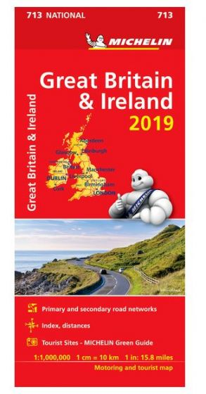 Michelin National Map - 713 - Great Britain & Ireland