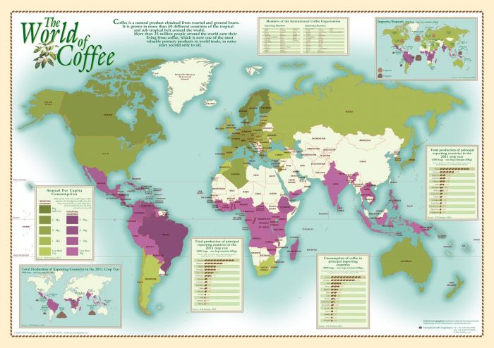 World of Coffee Map