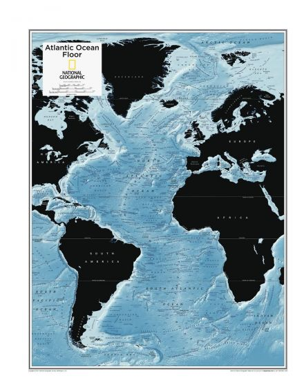 Atlantic Ocean Floor - Atlas of the World