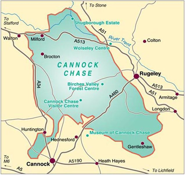 Harvey Superwalker - Cannock Chase Map
