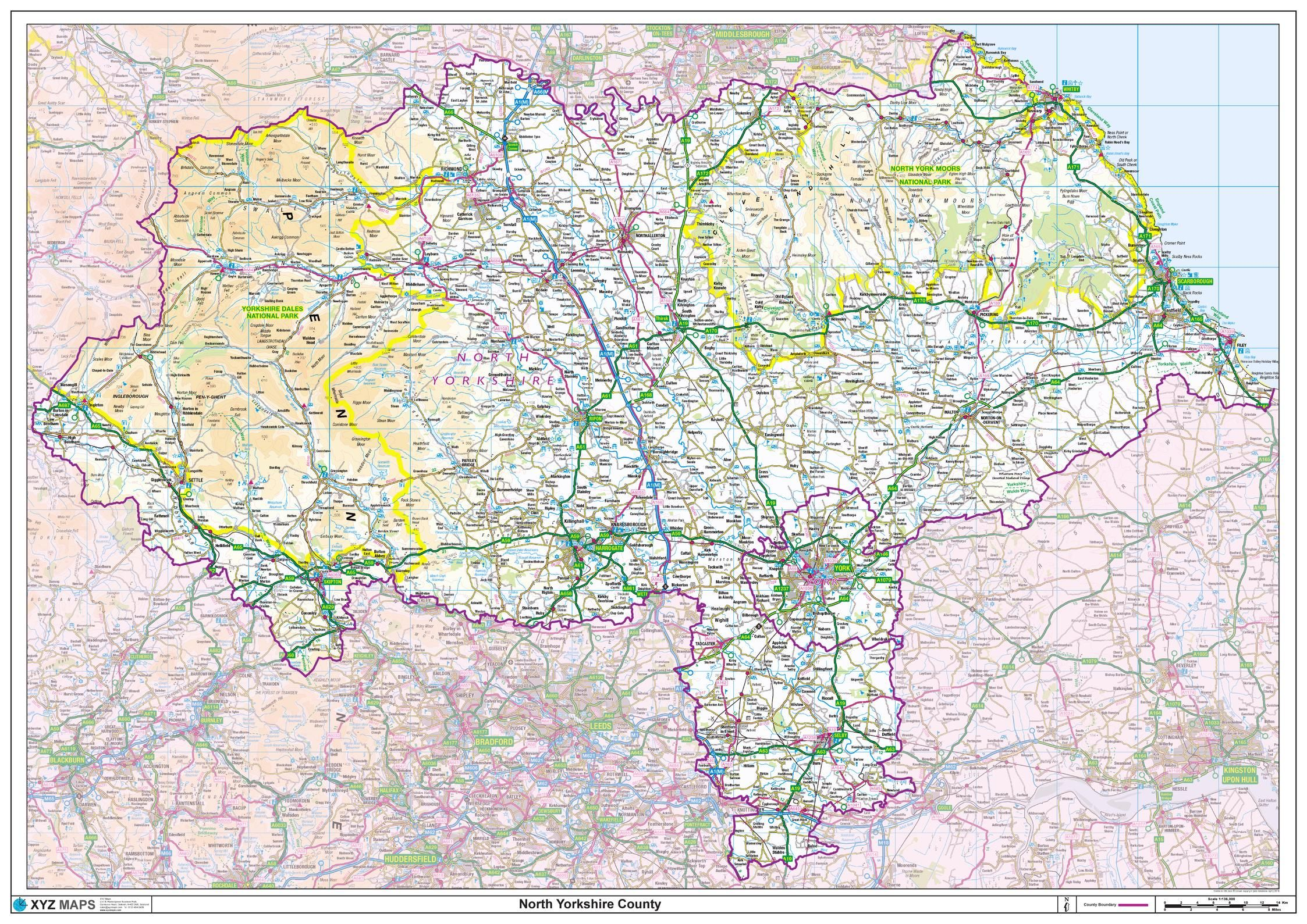 Picture of: North Yorkshire County Map