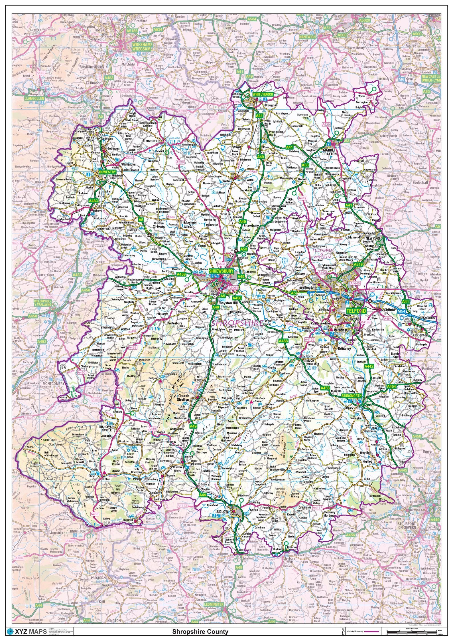 Picture of: Shropshire County Map