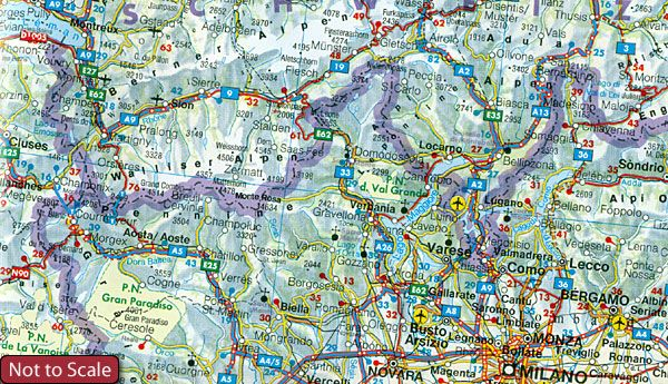 aa road map western europe AA   Road Map Europe   Western Europe