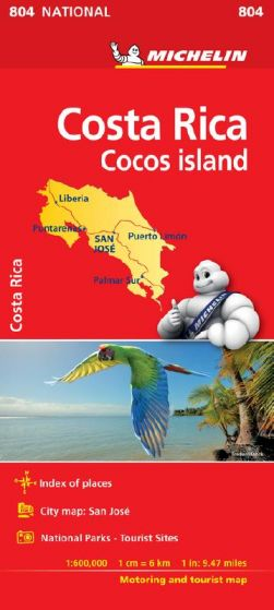 Michelin National Map - 804 - Costa Rica