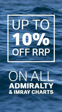 10% Off Imray & Admiralty Nautical Charts