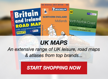 UK Maps and Atlases - Ordnance Survey, Harvey, Philips, The AA...